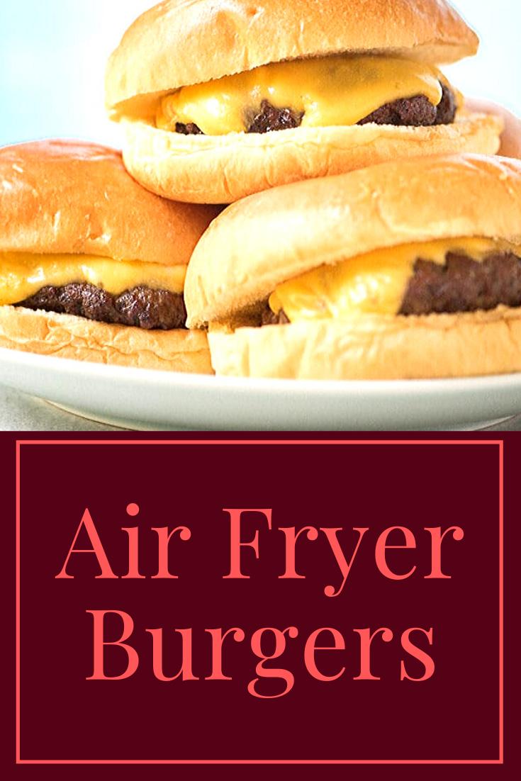 Air Fryer Burgers Recipes, Easy meals, Healthy recipes