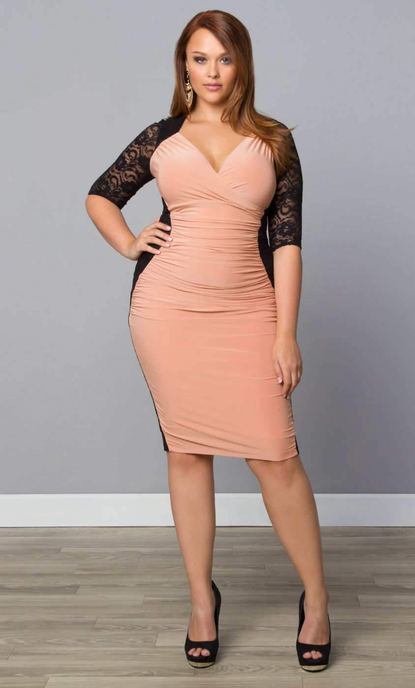 36e7e796d3a Check out the deal on Valentina Illusion Dress at Kiyonna Clothing