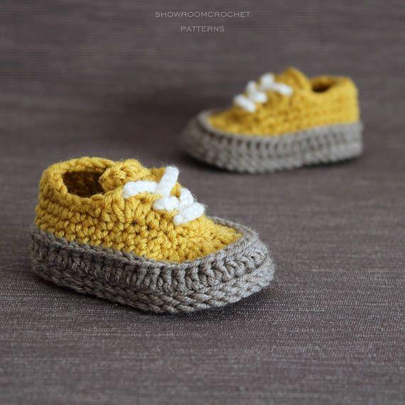 Crochet PATTERN baby Classis sneakers | Patrones de crochet, Crochet ...