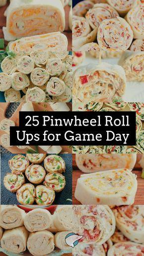 25 Pinwheel Roll Ups for Game Day #gamedayfood