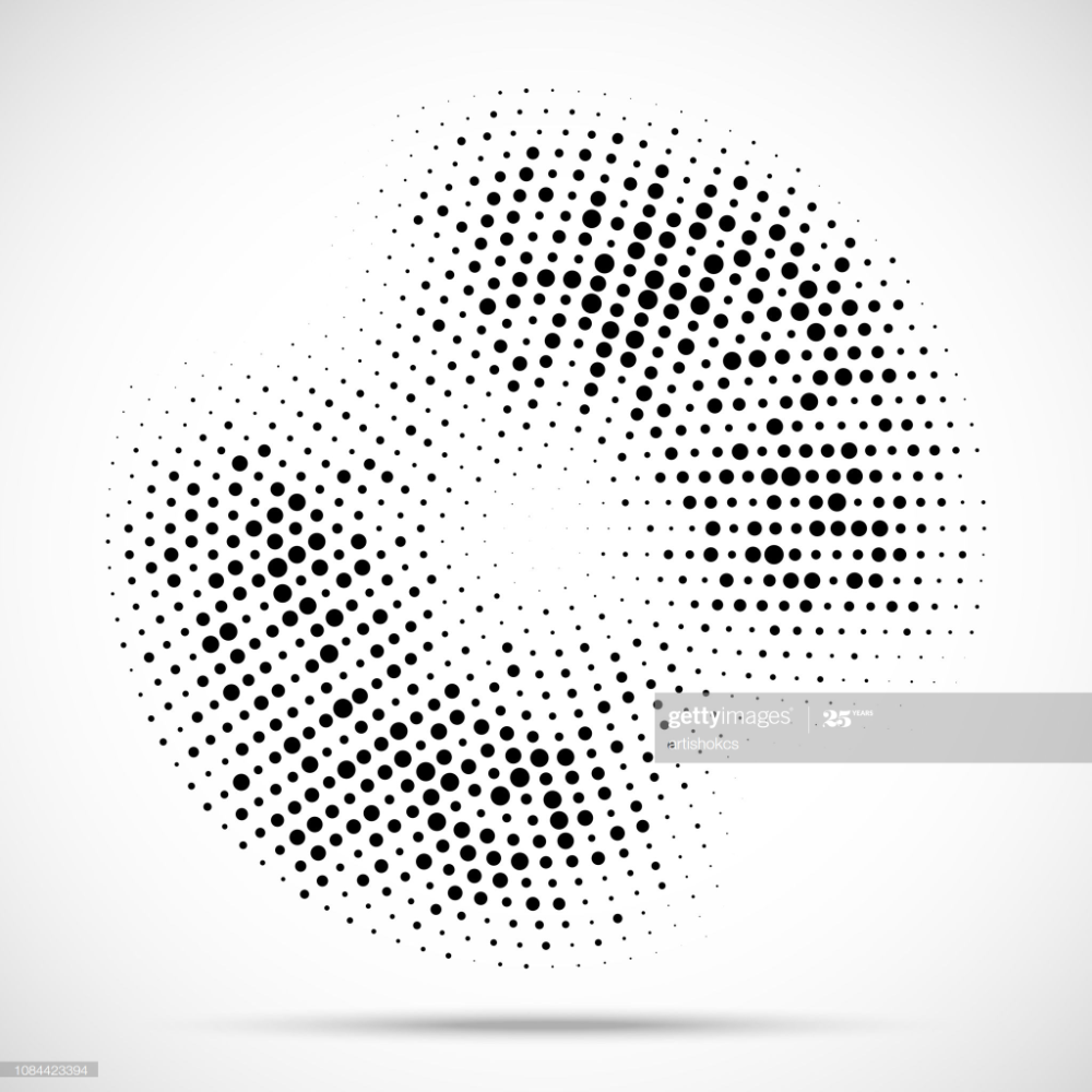 Halftone Circle Frame Dotted Background Round Border Icon Using Halftone Circle Frames Dot Icon