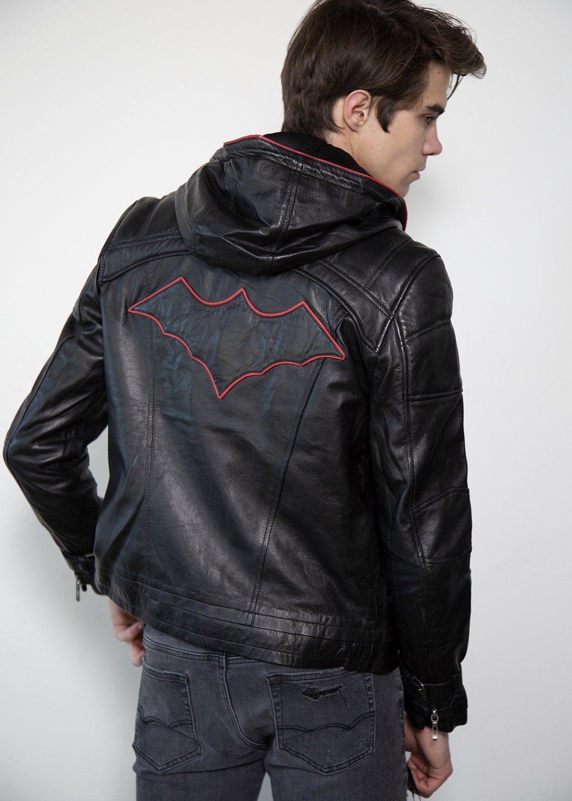 Mens Black Red Hood Leather Jacket Limited Edition In 2021 Leather Jacket With Hood Leather Jacket Blue Leather Jacket [ 1600 x 1142 Pixel ]