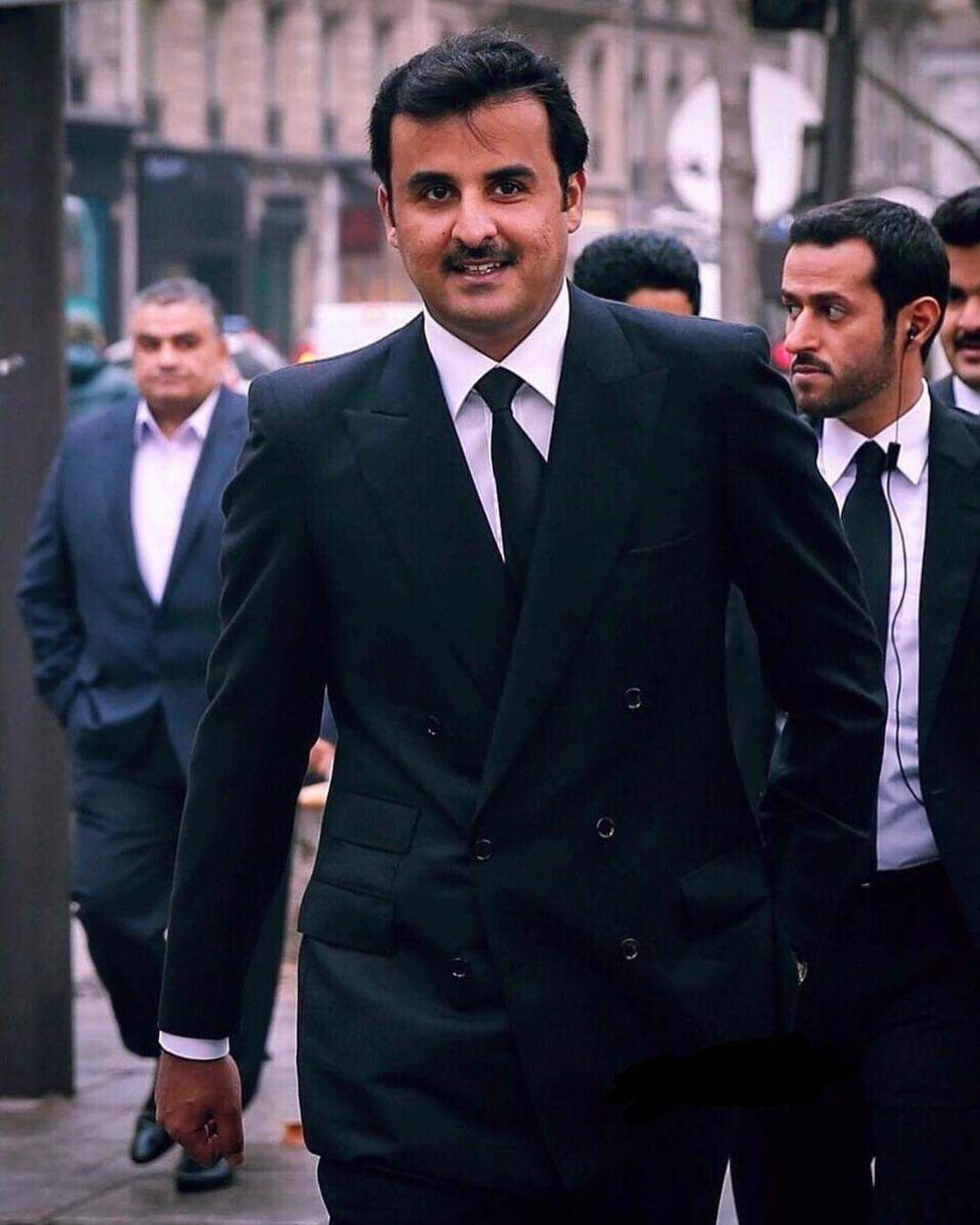 الأمير تميم بن حمد بن خليفة آل ثاني Amir Of Qatar Sheikh Tamim Bin Hamad Al Thani Double Breasted Suit Jacket Suit Jacket Jackets