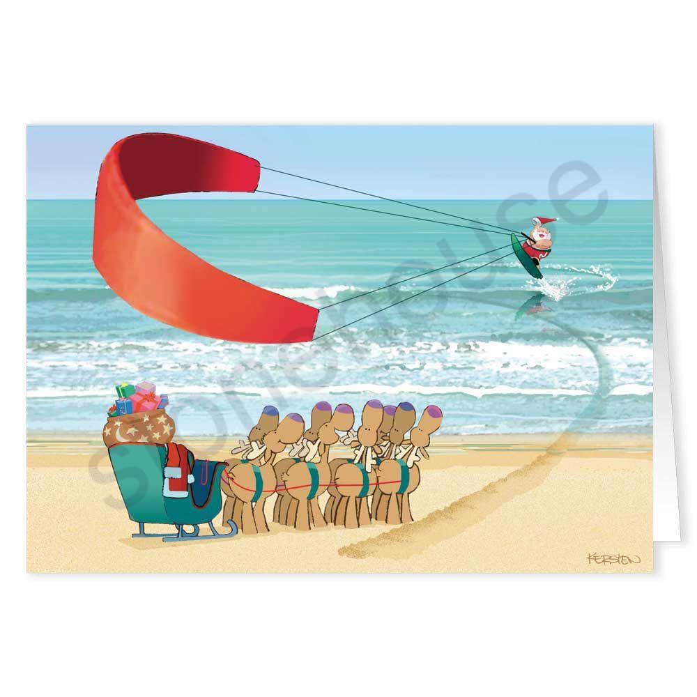 Kiteboarding santa christmas card beach christmas santa christmas christmas cards kristyandbryce Gallery