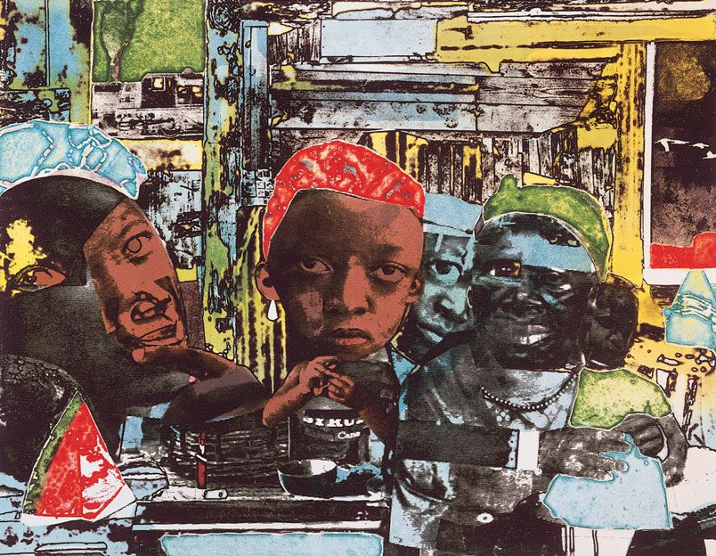 romare bearden rocket to the moon