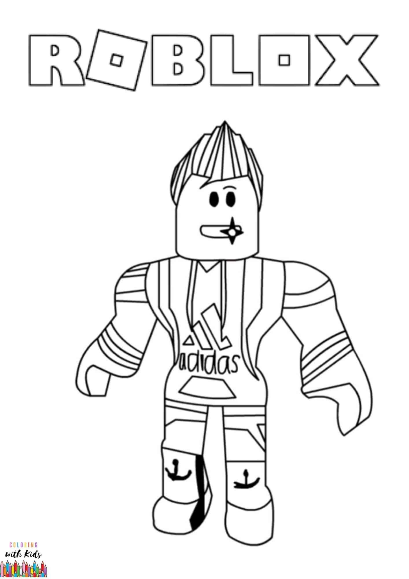 Roblox Avatar Drawing Coloring Page Image Credit Roblox Avatar Drawing By Yadia Chenia Permission For P Roblox Coloring Pages Coloring Pages For Boys