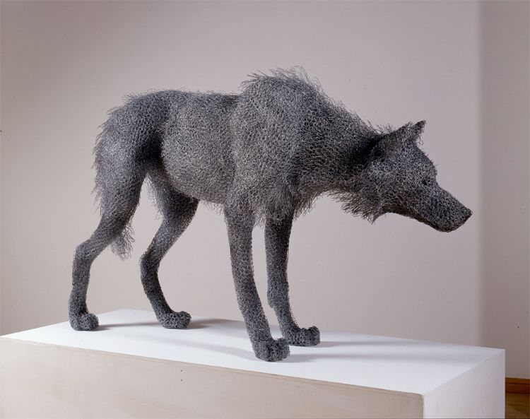 Hyperrealistic Animal Sculptures Made From Chicken Wire