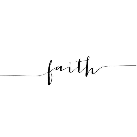 Photo of Faith Tattoo, Arm Tattoo, Temporary Tattoo, Fake Tattoo, Birthday Gift, Inspirational Tattoo, Faith, Religious Tattoo, Set of 2