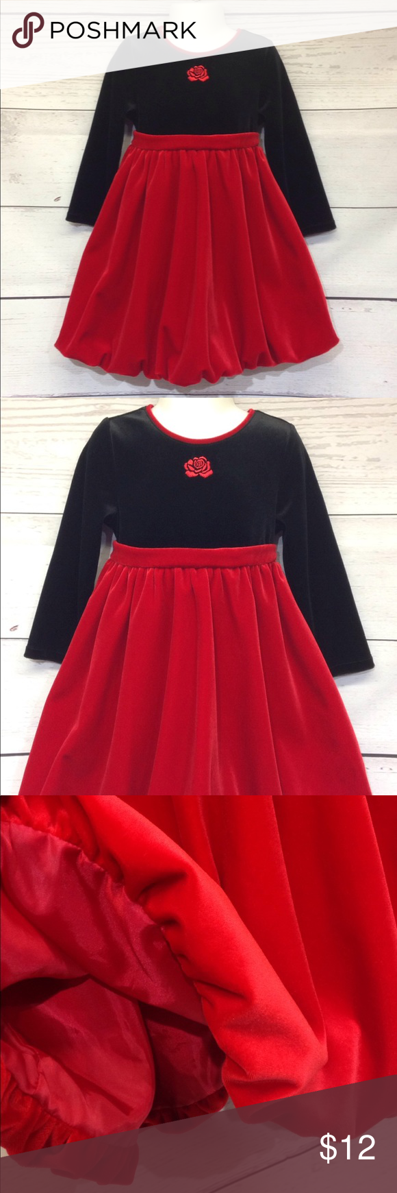 Charter Club 4 4t Velvet Party Dress Red Black Velvet Party Dress Red Dress Clothes Design [ 1740 x 580 Pixel ]