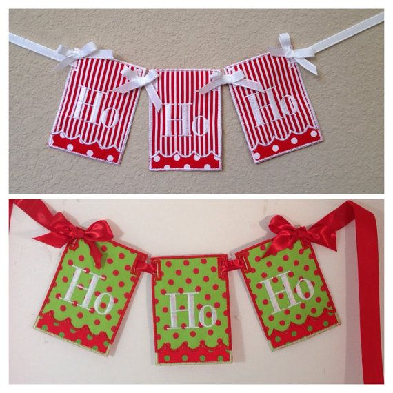 Fun Holiday Decorations! Ho Ho Ho Christmas Banner Christmas decor