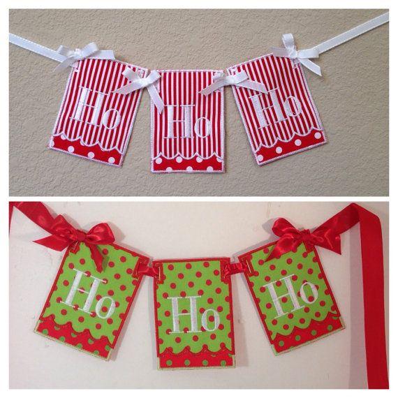 Fun Holiday Decorations! Ho Ho Ho Christmas Banner Christmas decor - christmas clearance decor