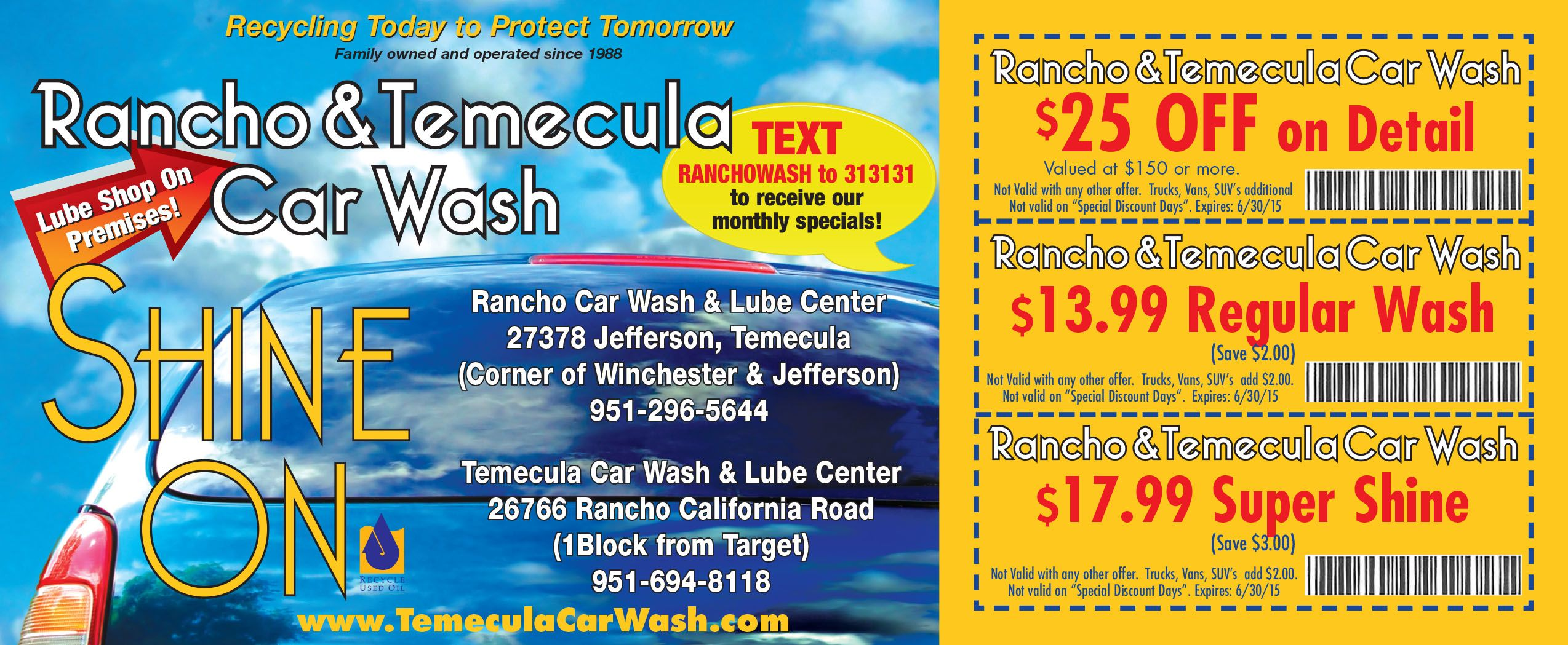 Car wash coupons diy pinterest car wash and car wash coupons rancho car wash is proud to be serving the temecula murrieta area with our quality full service car washing service car detailing and oil change service solutioingenieria Image collections