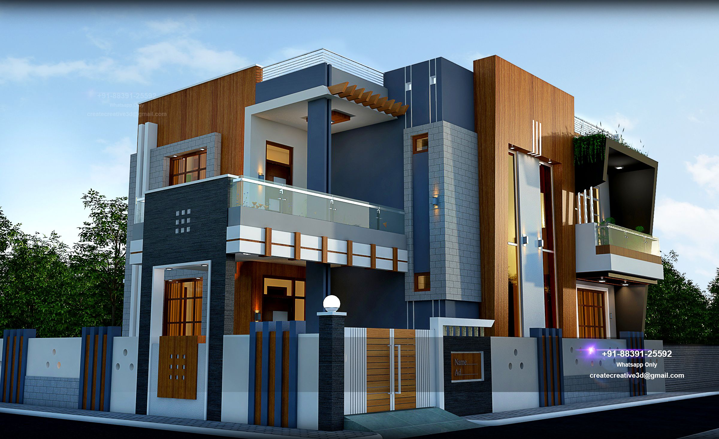 55x30 G 1 Best House House Design Duplex House Design Modern House Design
