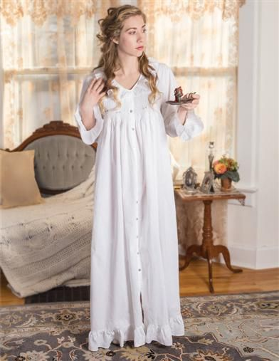 b0375cb6e5 Victorian Nightgowns, Nightdress, Pajamas, Robes in 2019 | Victorian ...