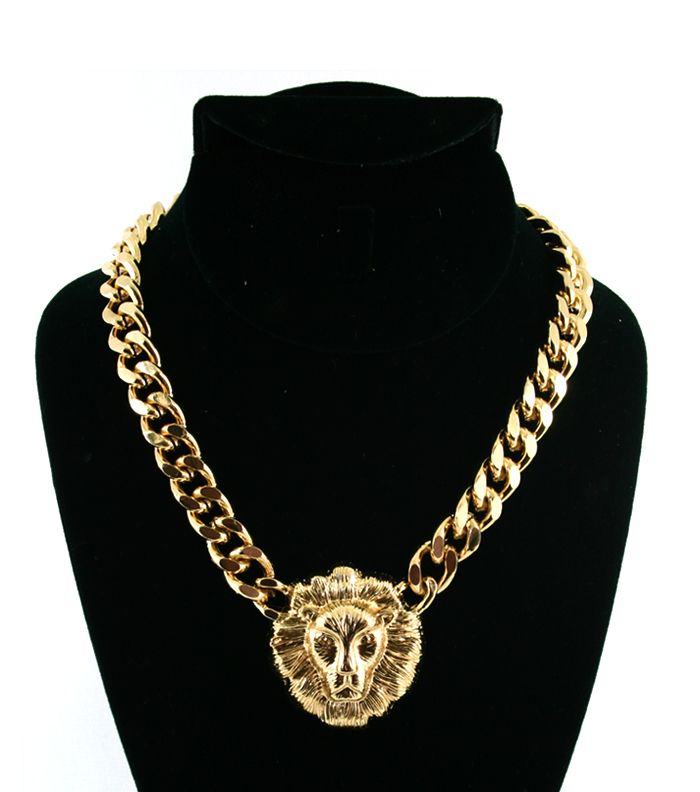 32e05facc1d5fe Versace Inspired Lion Head Necklace ... www.etsy.com/shop/StillPrettyLLC