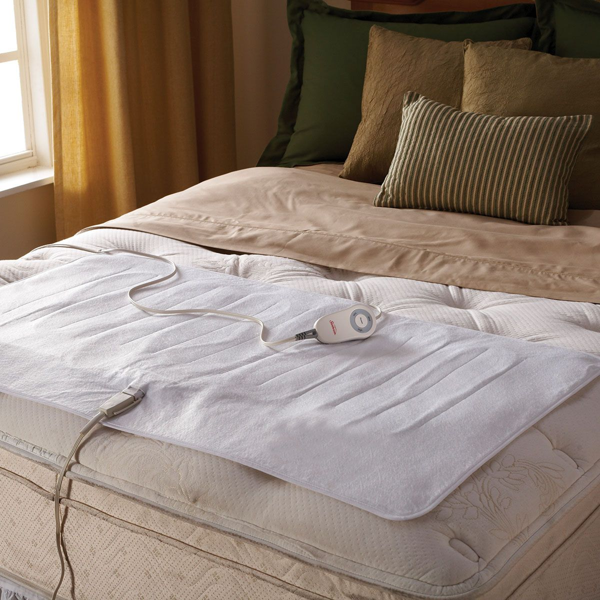 shop for the sunbeama comfy toes queen king heated mattress pad at