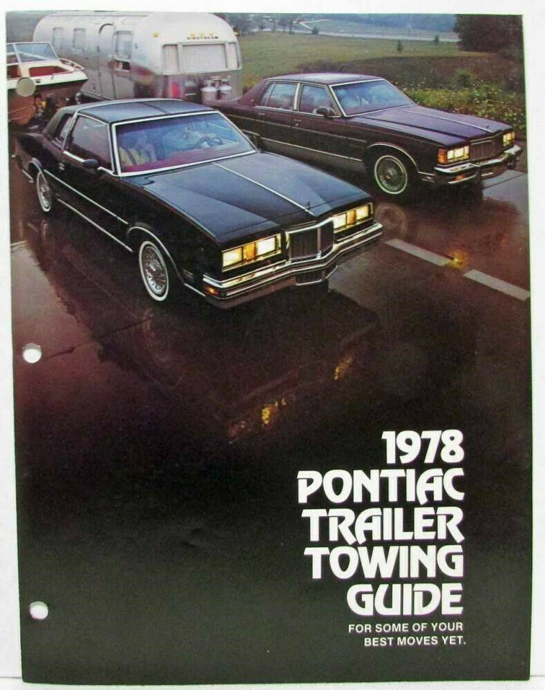 1978 Pontiac Grand Prix : pontiac, grand, Pontiac, Trailer, Towing, Guide, Sales, Brochure, Catalina, Bonneville, Grand, Pontiac,, Prix,