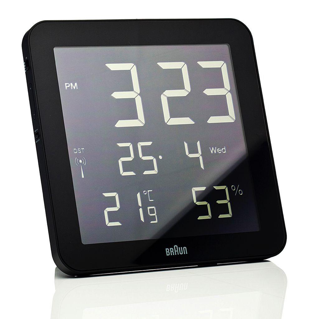 Braun Digital Wall Clock Bn C014 Rc Wall Clocks Clocks And Digital