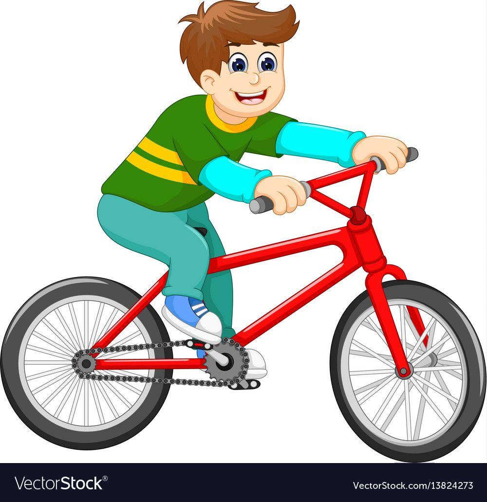 Funny Boy Cartoon Riding Bicycle Royalty Free Vector Image Cartoon Baby Orangutan Free Cartoon Images