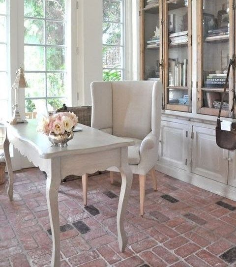 73 Refined Feminine Home Office Decor Ideas Decor Pinterest Office Spaces Spaces And Desks