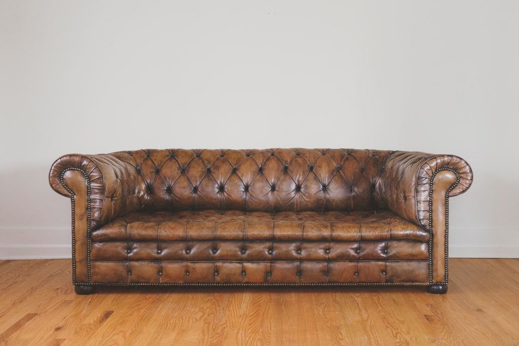antique leather - Distressed Leather Sofa