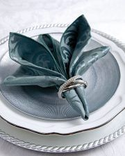 Napkin Folding Technique #foldingnapkins