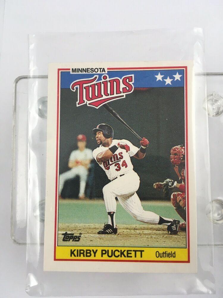 1988 mini topps american baseball card kirby puckett 57