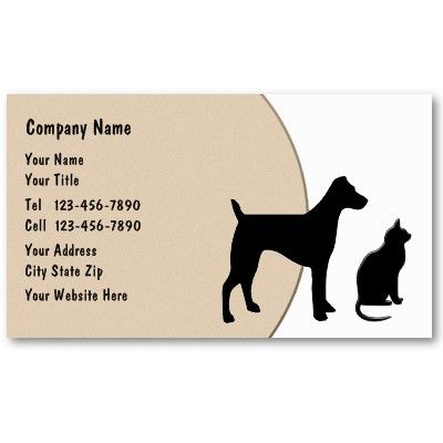 Pet care business cards you can customize for $21.40 at http://bit.ly/PetBusinessCards. Best business cards for a pet sitter, pet grooming or veterinarian.