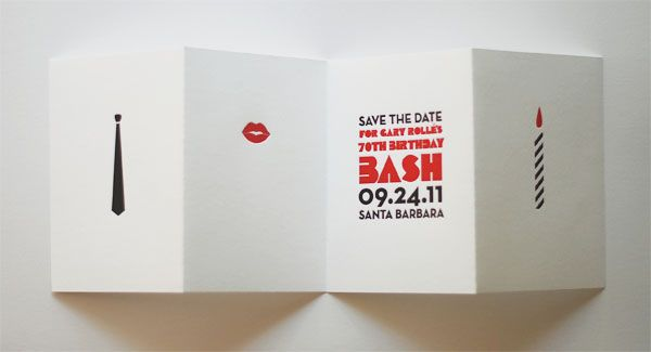 1960sInspired Save the Dates for a 70th Birthday Party 70