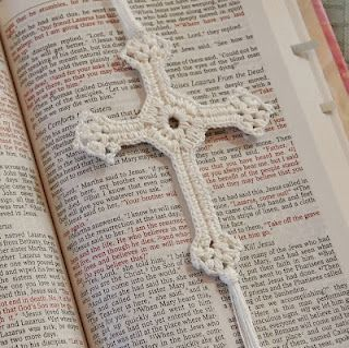 Free Lacy Cross Crochet Pattern....    nice bookmark pattern for one of the Yahoo groups I exchange with!!!!