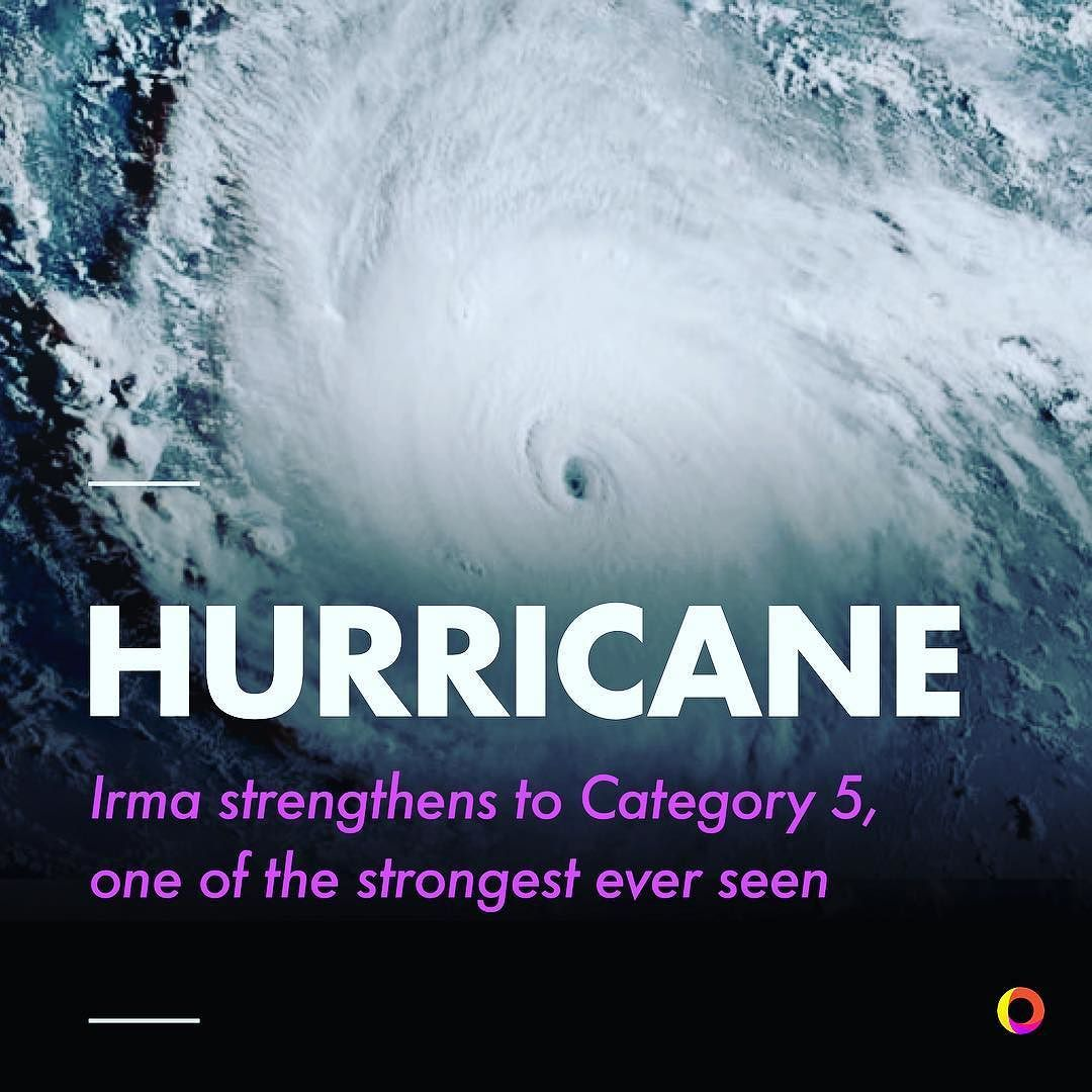 Hurricane Irma Has Been Upgraded To A Category 5 Storm As It Approaches The Caribbean Islands Of Antigua And Barbuda The Storm Has Been Measured With Martin St