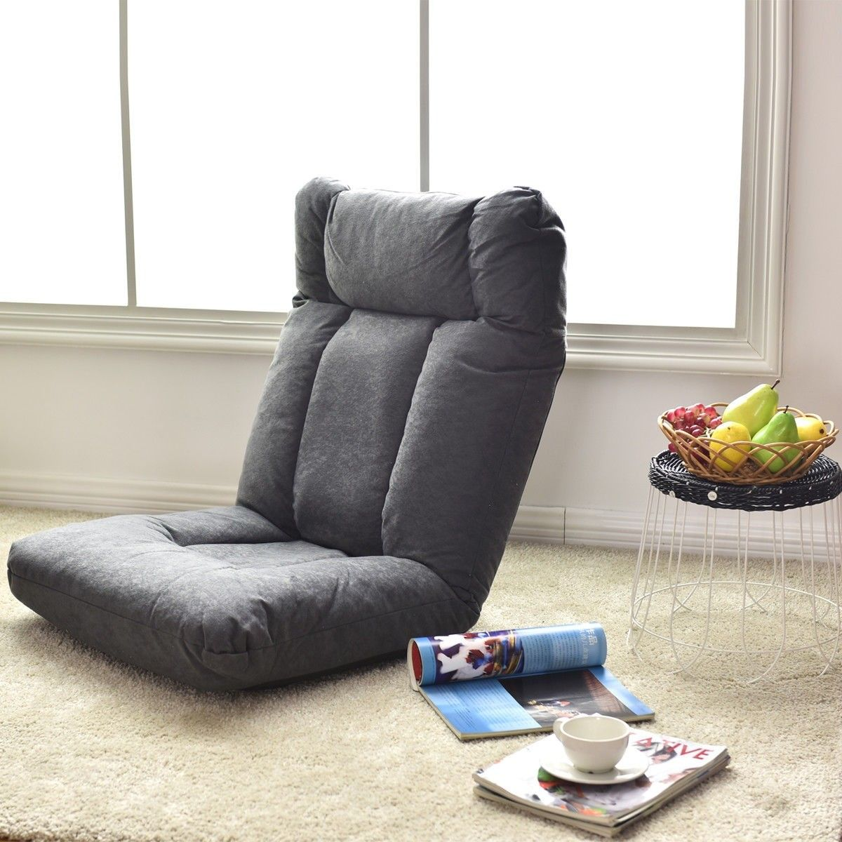 Adjustable Folding Lazy Recliner Cushioned Floor Sofa