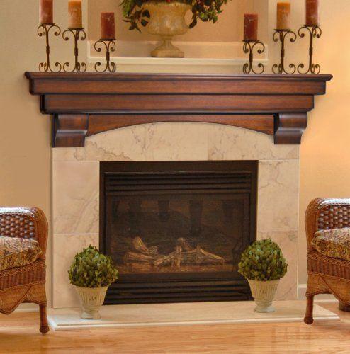 Amazoncom Pearl Mantels 49560 Auburn Arched 60Inch Wood