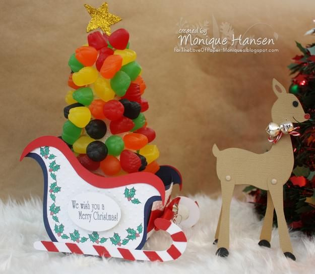 Merry Christmas Project made using products and the Sleigh Ride