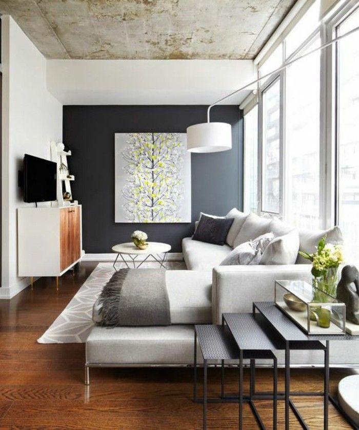 interessante wohnzimmer wandgestaltung im modernen wohnzimmer - moderne wohnzimmer wandgestaltung