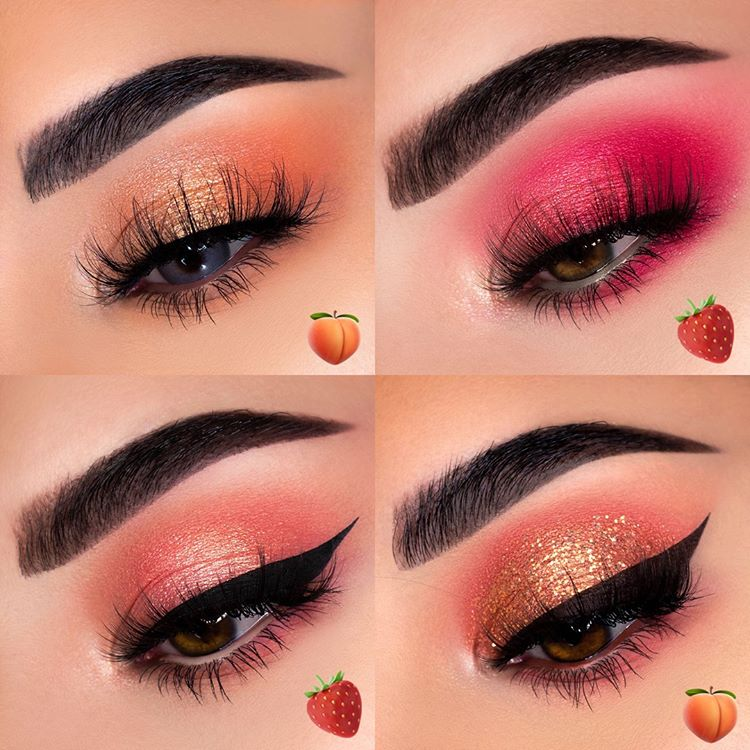 Peach And Strawberry From Colourpop Peach Makeup Gold Makeup Looks Purple Makeup Looks
