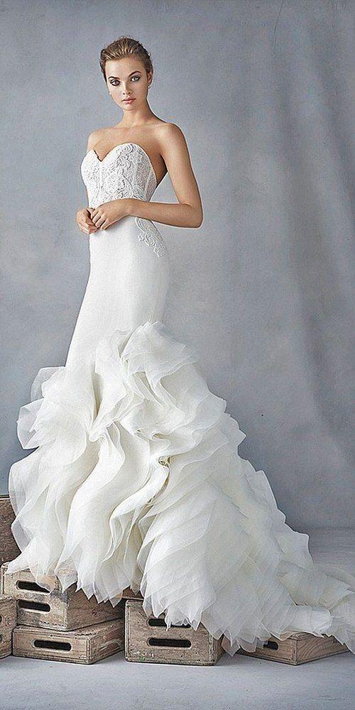 Strapless Mermaid Wedding Dresses / http://www.himisspuff.com/mermaid-wedding-dresses/10/