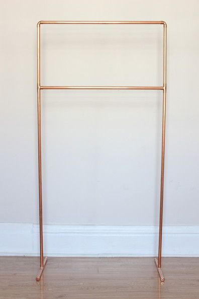 Pipe Dream - DIY to Try: Copper Pipe Towel Rack - Lonny