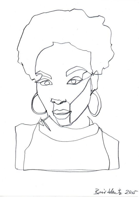 Continuous Line Drawing Of Face : Boris schmitz portfolio losse inspiratie pinterest
