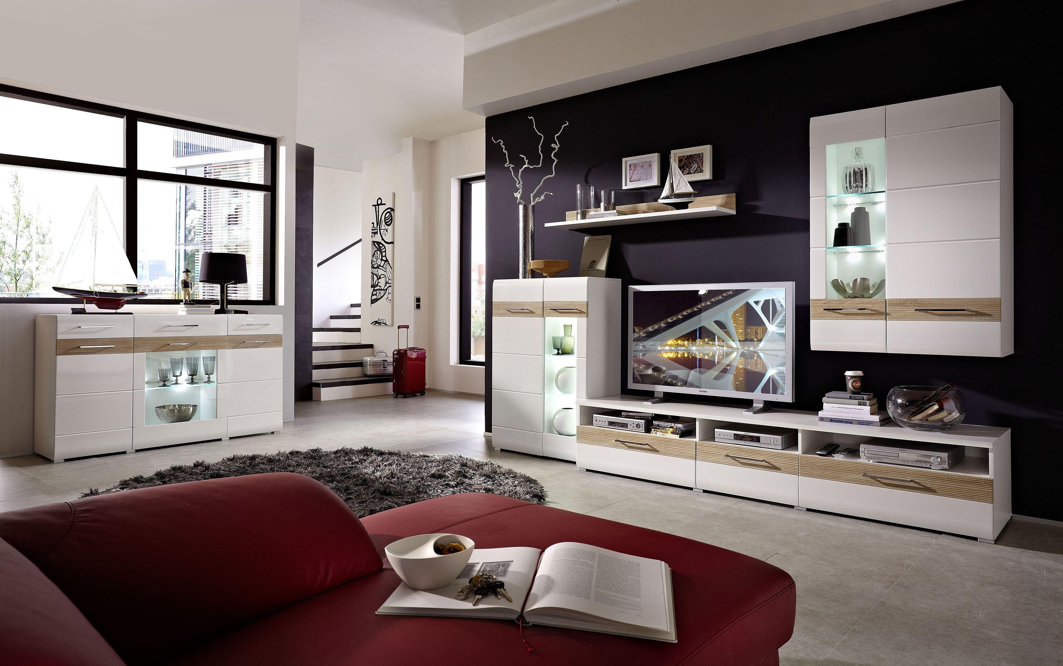 awesome wohnzimmer weiß hochglanz images - home design ideas