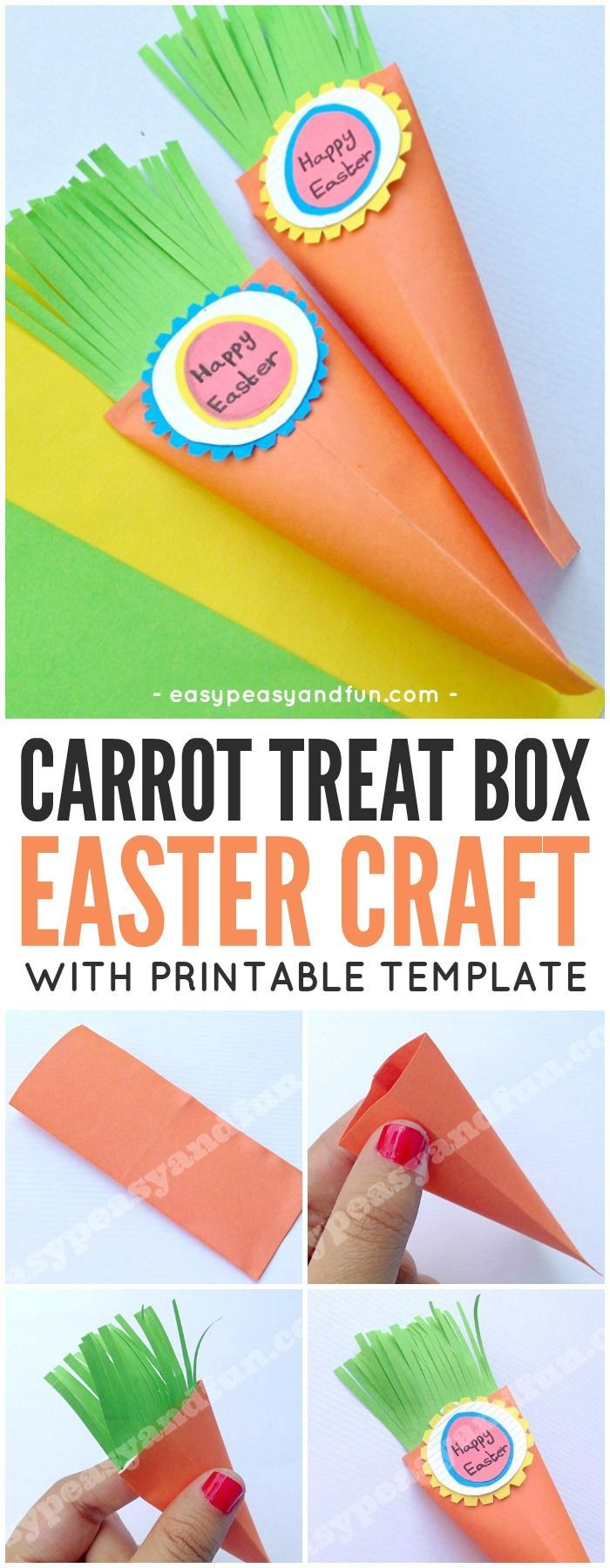 Easter Carrot Treat Box Craft Ideas For Kids Pinterest Crafts