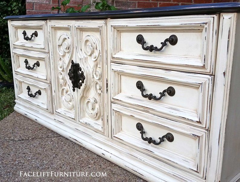 Dressers Painted, Glazed & Distressed White painted