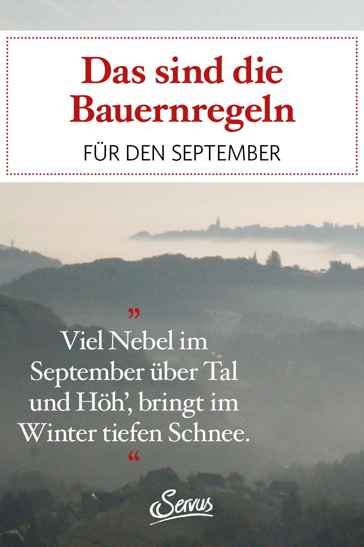 Bauernregeln Fur Den September Servus Nebel Bauer Servus