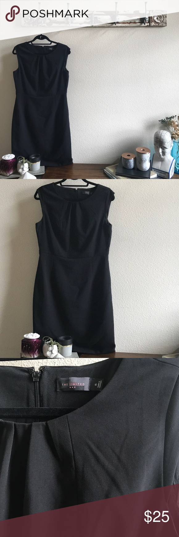 "Perfect LBD Sheath Dress This is so flattering! It's completely lined and from the suiting line at The Limited. It has stretch to it and is 35"" long, I'm 5'5 and it hits me at the knee. The Limited Dresses"