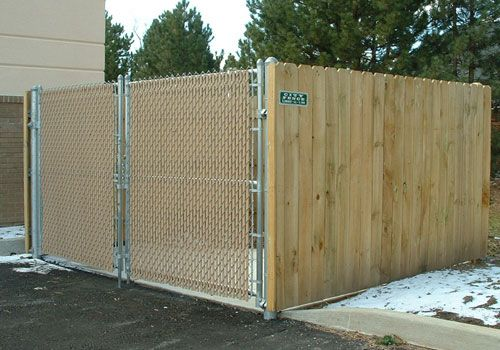 Attaching Wood Panels To Chain Link Fence City Fence