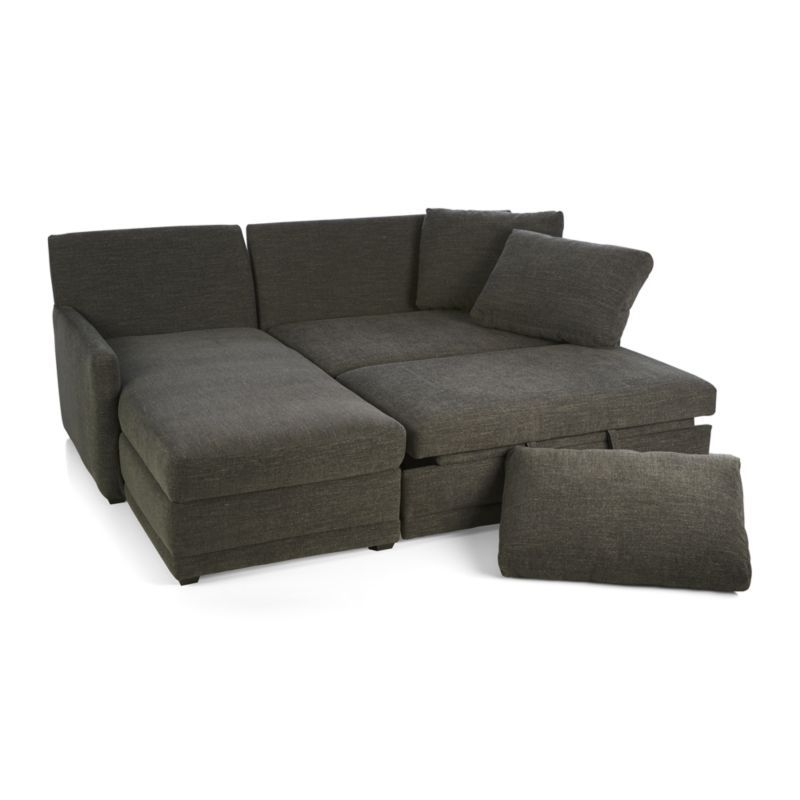 Beau Reston 2 Piece Sleeper Sectional Sofa   Crate And Barrel