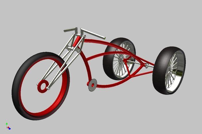Three Bikes Powered Wheel Gas