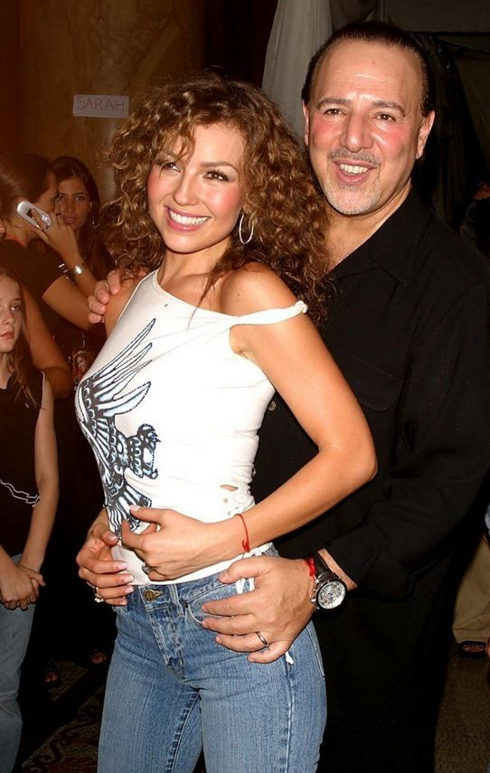 Tommy Mottola with beautiful, Wife
