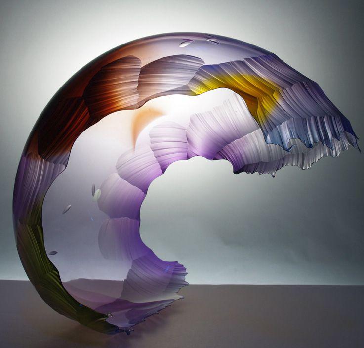*Art Glass - Twighlight Storm by Graham Muir