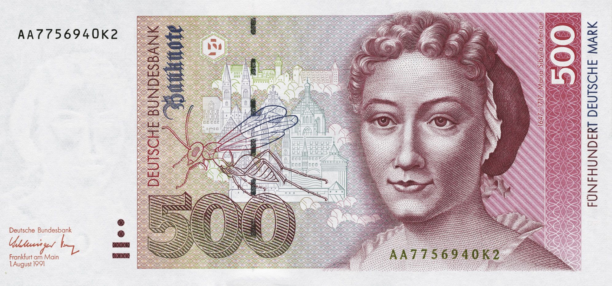 This is an image of German currency. I love the different